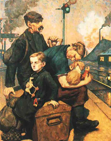 Emigrants | Painting of Hans Baluschek 1912
