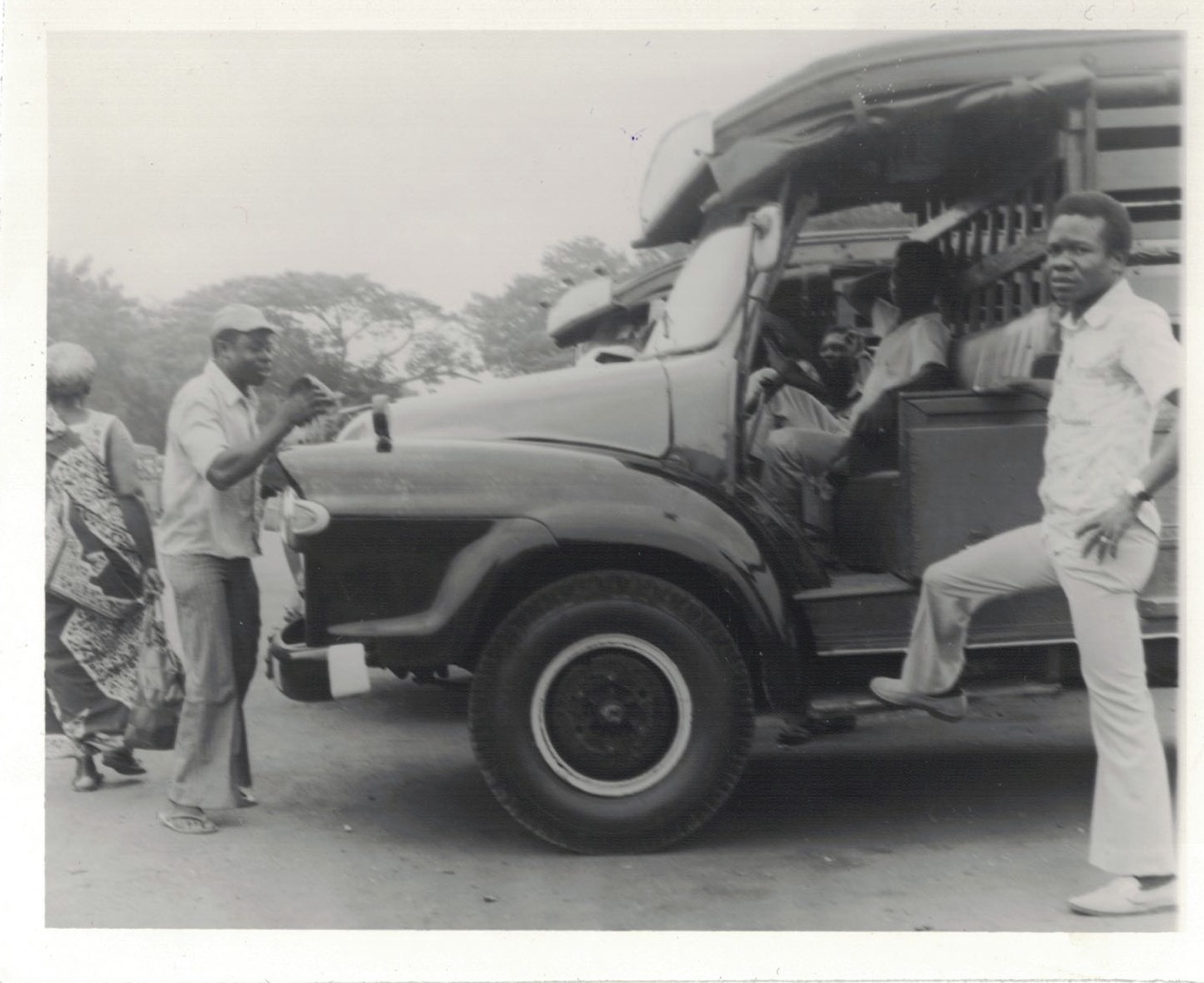 """A day in the life of a Tro-tro Driver,"" Ben Kwakye, 3/9/75. Source: Photographic Section, Information Services Department, Ministry of Information, Accra, Ghana."
