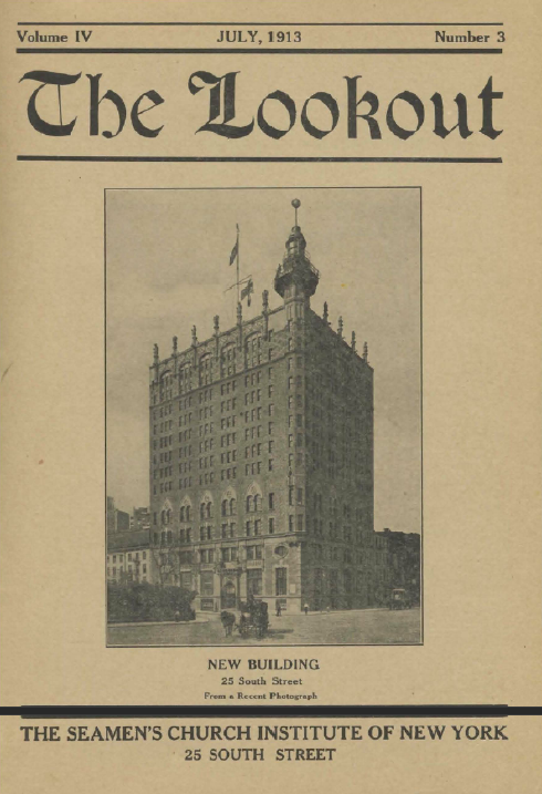 Cover of The Lookout, the publication of the New York Seamen's Church Institute.