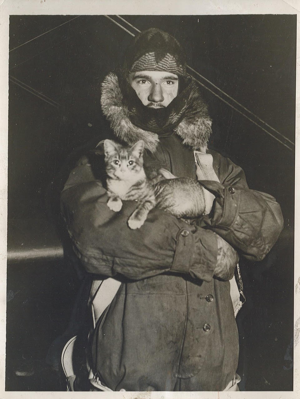 Weather observation pilot Johnny Starr in Omaha, Nebraska, December 17, 1931. Photo by ACME Newspictures. Print in [author's] personal collection.
