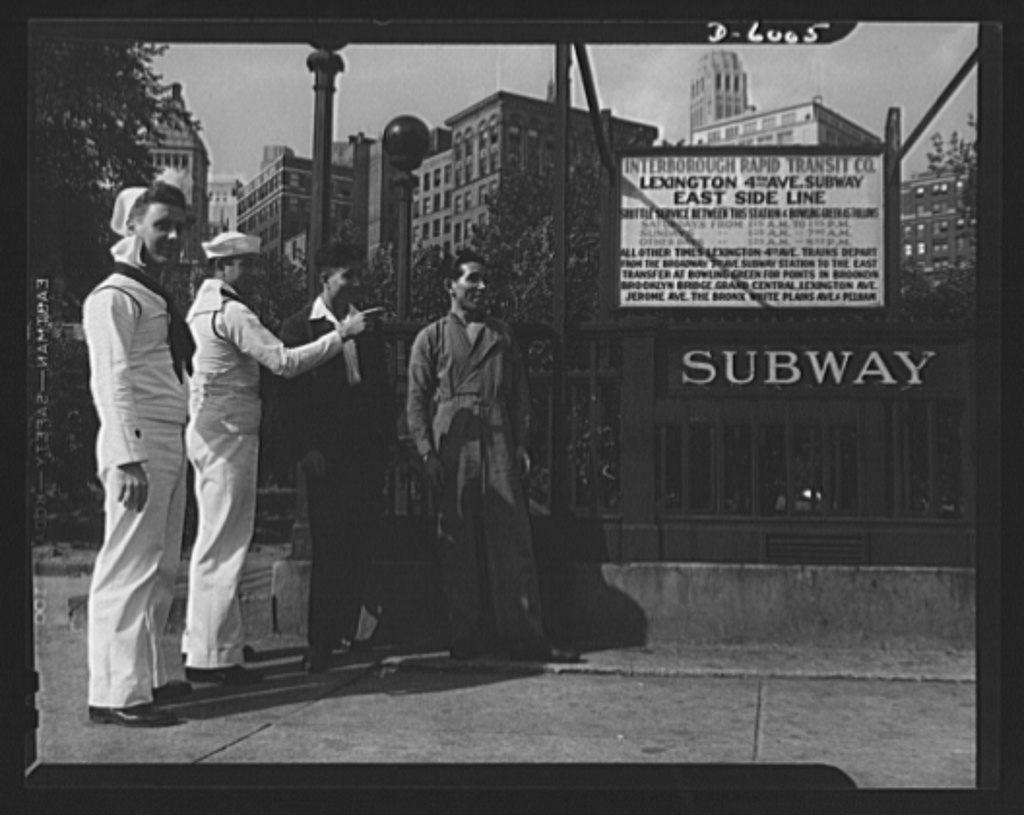 """Edward Gruber, """"East Meets West,"""" September 1942."""