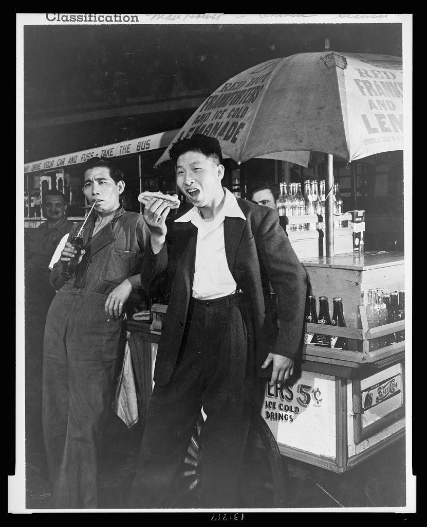 """Edward Gruber, """"Lee Ah Ding (left) and Yee Chee Ching,"""" September 1942."""