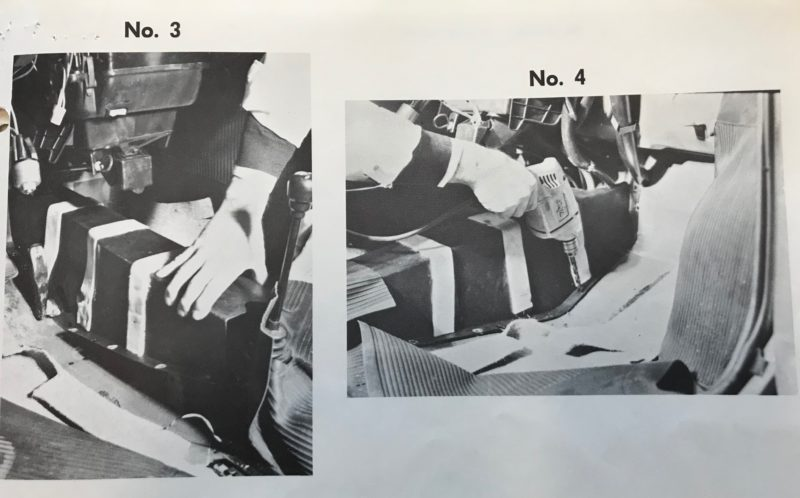 Photographic Diagrams in Federal Records Show a Tester Instrumenting a Fiat Car for Crash Testing